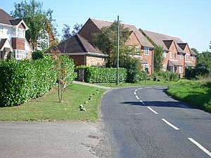 West Horsley - West Horsley has few apartments in favour of larger housing without communal areas within them