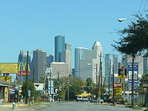 Neartown Houston - The Downtown Houston skyline, viewed from Neartown