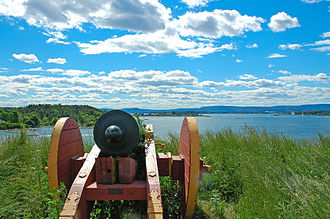Hovedøya - The Western cannon battery, sporting copies of early 19th century cannons