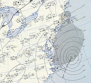 1951 Atlantic hurricane season - Image: How 1951 10 05 weather map