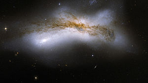 NGC 520 - Image: Hubble Interacting Galaxy NGC 520 (2008 04 24)