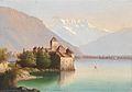 Hubert Sattler (zugeschr.) - Blick auf Schloß Chillon am Genfer See.jpg