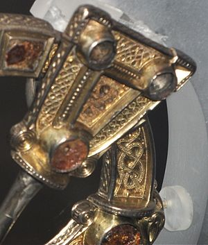 Hunterston Brooch - Detail of pin-head