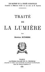 Christian Huygens: Traité de la Lumière