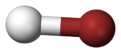 Ball-and-stick model of hydrogen bromide