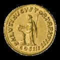 INC-1816-r Ауреус Марк Аврелий ок. 163-164 гг. (реверс).png