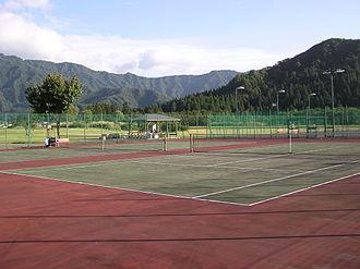 International University of Japan - Tennis courts in scenic surroundings