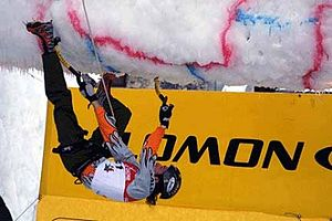 Ice tool - Ice Climbing Competition. Italy, Val Daone, 2007.