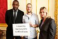 Idris Elba, Will Pooley and Secretary of State Justine Greening (15417772372).jpg