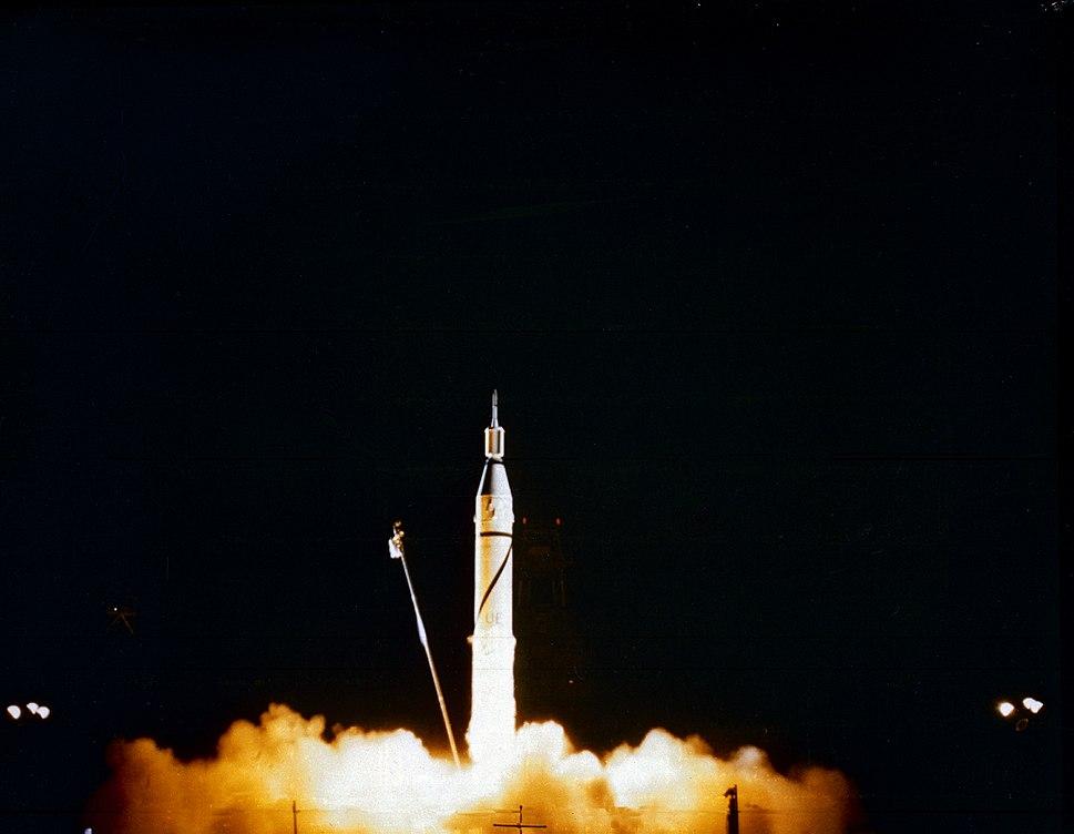 Ignition of Jupiter-C with Explorer 1