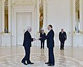 Ilham Aliyev received credentials of Ambassador of Montenegro Branko Milic.jpg