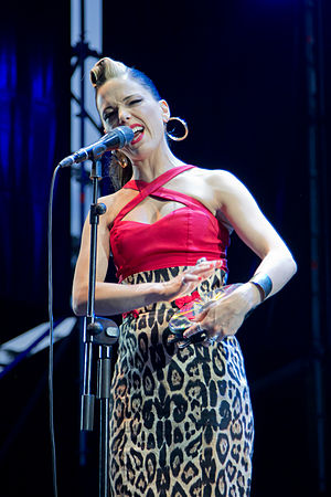 Imelda May - May performing live at Madgarden 2015 in Madrid.