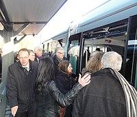Inauguration de la branche vers Vieux-Condé de la ligne B du tramway de Valenciennes le 13 décembre 2013 (099).JPG