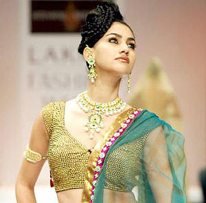 Lakme Fashion Week - A model showcasing at the Lakme Fashion Week 2010