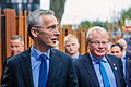 Informal meeting of defence ministers (FAC). Arrivals Jens Stoltenberg and Peter Hultqvist (36892140316).jpg