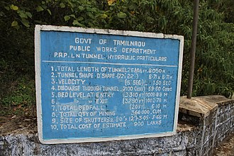 Solaiyar Dam - Information about tunnel at Solaiyar Dam, Tamil Nadu