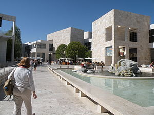 English: The inner courtyard of the Getty muse...
