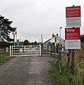 Instructions board at the approach to Station Road level crossing, Llangennech - geograph.org.uk - 4630437.jpg