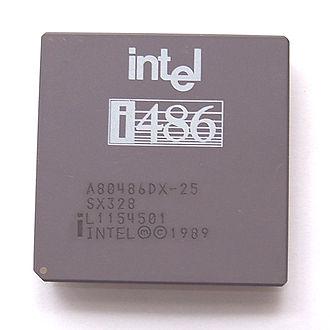 Intel 80486 - Image: Intel i 486 DX 25MHz SX328