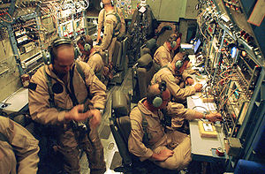 Lockheed EC-130 - U.S. Military personnel assigned to the 4th Psychological Operations Group, 193d Special Operations Wing, Pennsylvania Air National Guard broadcast television and radio programming from on board an EC-130E aircraft, in support of Operation Iraqi Freedom.