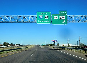 Interstate 27 - Southern terminus in Lubbock