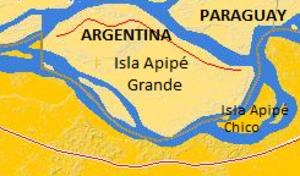 Isla Apipé - Map of Isla Apipé, Argentina