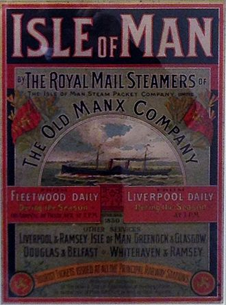 Isle of Man Steam Packet Company - Isle of Man Steam Packet Poster.