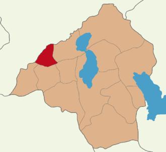 Sozopolis (Pisidia) - map of country round Sozopolis, Pisidia.