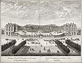 Israël Silvestre, Chasteau Royal de Versailles veu du milieu de la grande avenue, 1674.jpg