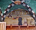 Issogne Castello d'Issogne Innenhof Fresken 05.jpg