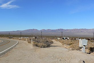 Ivanpah, California - View of Ivanpah, with the Ivanpah Mountains in the distance