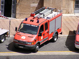 Corps of Firefighters of the Vatican City State - Falcon 1000 fire appliance in Vatican City.
