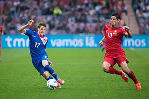 Ivo Ilicevic (L), Ricardo Costa (R) - Croatia vs. Portugal, 10th June 2013.jpg