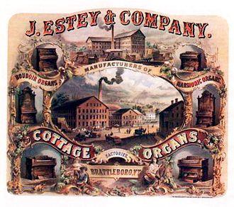 Estey Organ - Estey's advertisement circa 1866–1872.