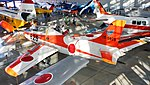 JASDF T-1A(15-5825) left rear top view at Hamamatsu Air Base Publication Center November 24, 2014 02.jpg