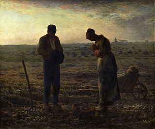 <i>The Angelus</i> (painting) Painting by Jean Francois Millet in the Musée DOrsay
