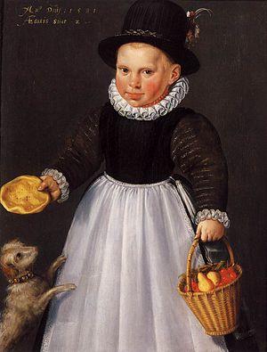 Jacob Willemsz Delff - Portrait of a boy aged two, 1581, now at the Rijksmuseum