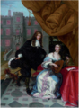 Jacob de Formentrou - A gentleman courting a lady music making in a courtyard.tiff
