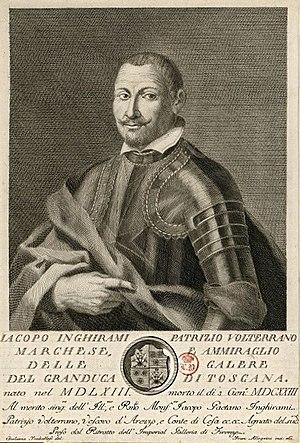 Giulio Traballesi - Annotated engraving of Jacopo Inghirami by Giulio Traballesi, 1763