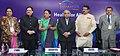 Jagat Prakash Nadda at the 7th Vibrant Gujarat Global Summit 2015, in Gandhinagar, Gujarat. The Chief Minister of Gujarat, Smt. Anandiben Patel, the Secretary (Health), Ministry of Health and Family Welfare.jpg