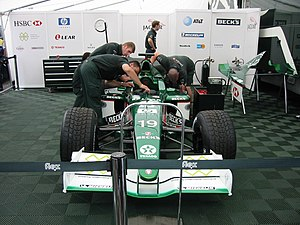 Jaguar R2 - The R2 being prepared for a public appearance