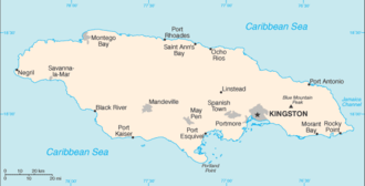 Outline of Jamaica - An enlargeable basic map of Jamaica