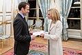 Jamie McCourt and Emmanuel Macron.jpg