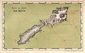 Eggøya - Image: Jan Mayen map by Carl Vogt 1863