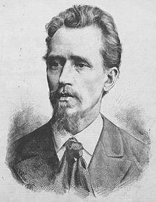 Josef Václav Sládek na kresbě Jana Vilímka