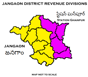 Jangaon district - Jangaon District Revenue divisions