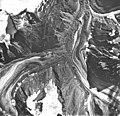 Jarvis Glacier, valley glacier largely covered with rocks, September 17, 1966 (GLACIERS 5232).jpg