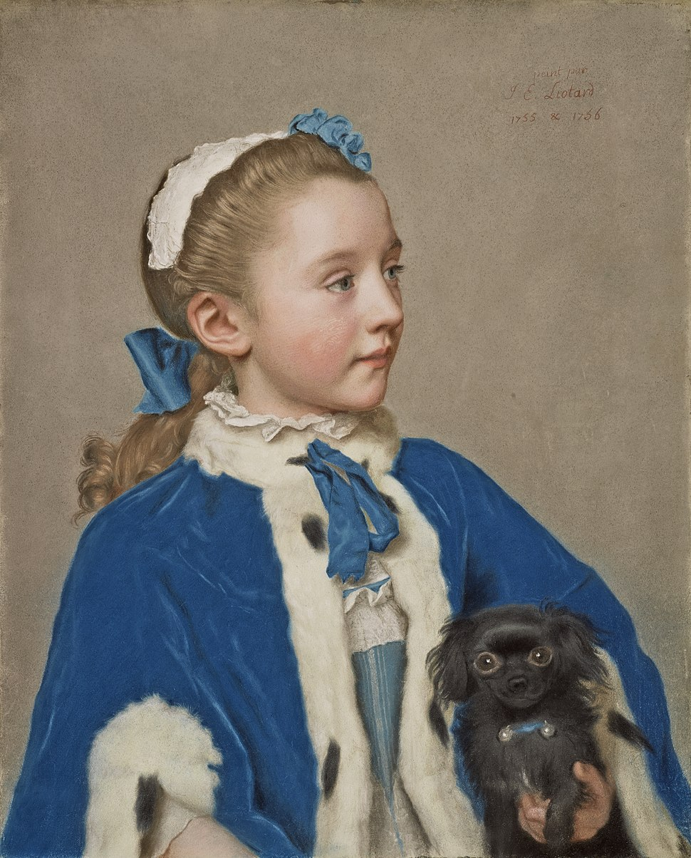 Jean-Étienne Liotard - Portrait of Maria Frederike van Reede-Athlone at Seven Years of Age
