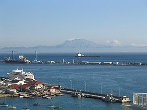 Jebel Musa (Morocco) - View of Jebel Musa as seen from Gibraltar