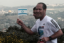 Jerusalem mayor Nir Barkat at the 2012 marathon